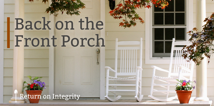 Back on the Front Porch